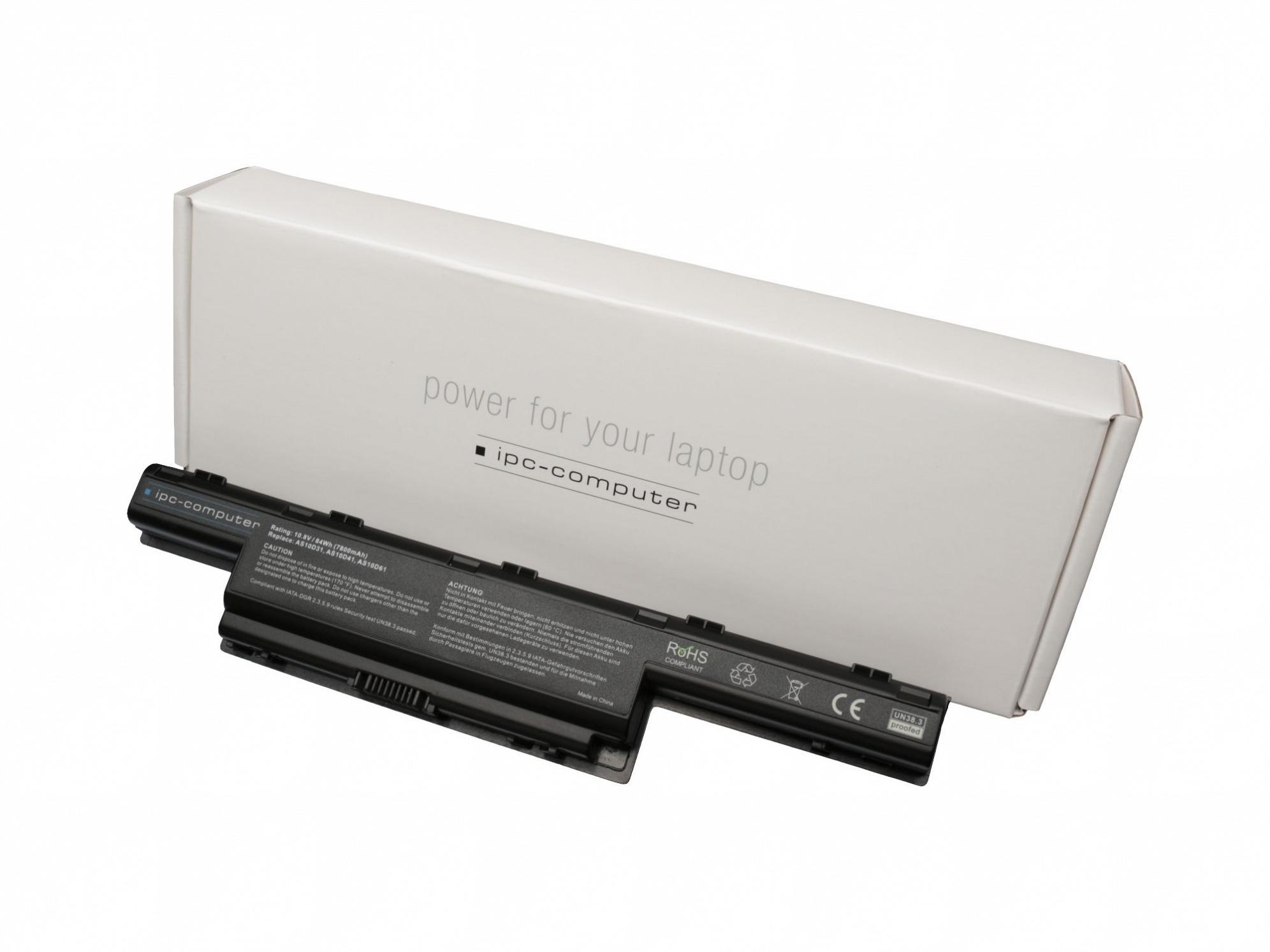 batterie pour ordinateur portable acer aspire 7741g serie. Black Bedroom Furniture Sets. Home Design Ideas