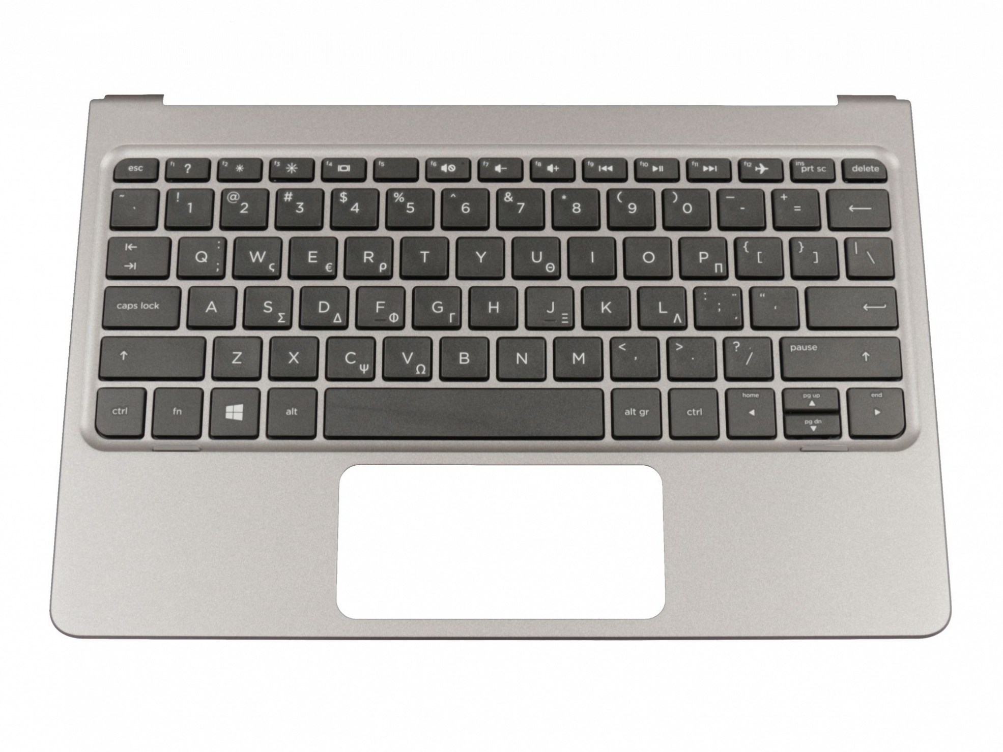 HP 814718-151 Tastatur inkl. Topcase GR (griechisch) schwarz/grau Original