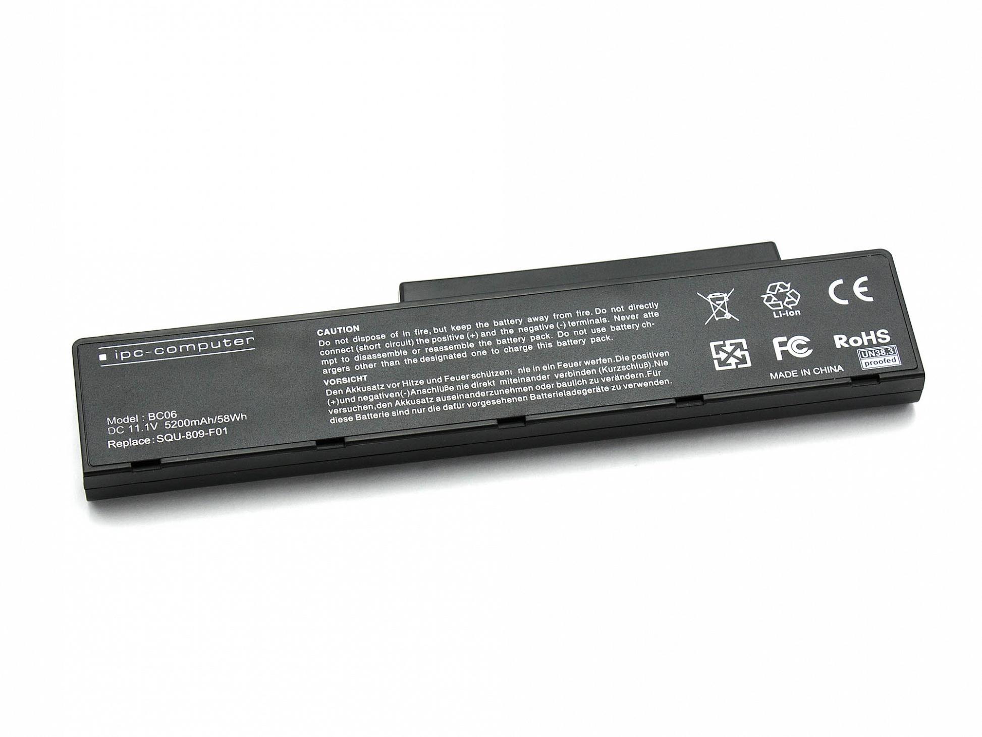 Akku Fujitsu Amilo Li-3910 Reg.No. EF9