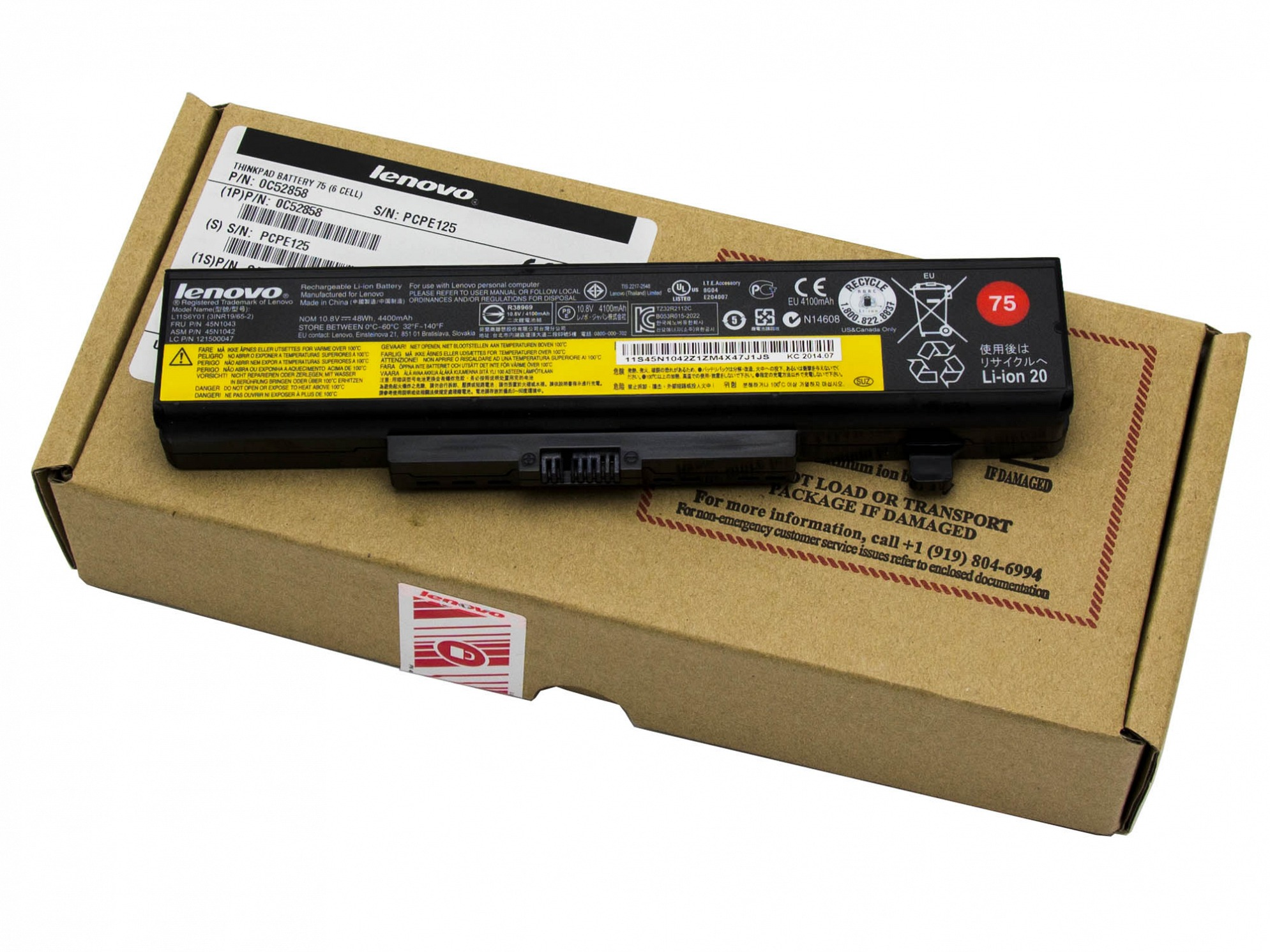 Lenovo Battery 75 Akku 48Wh Original