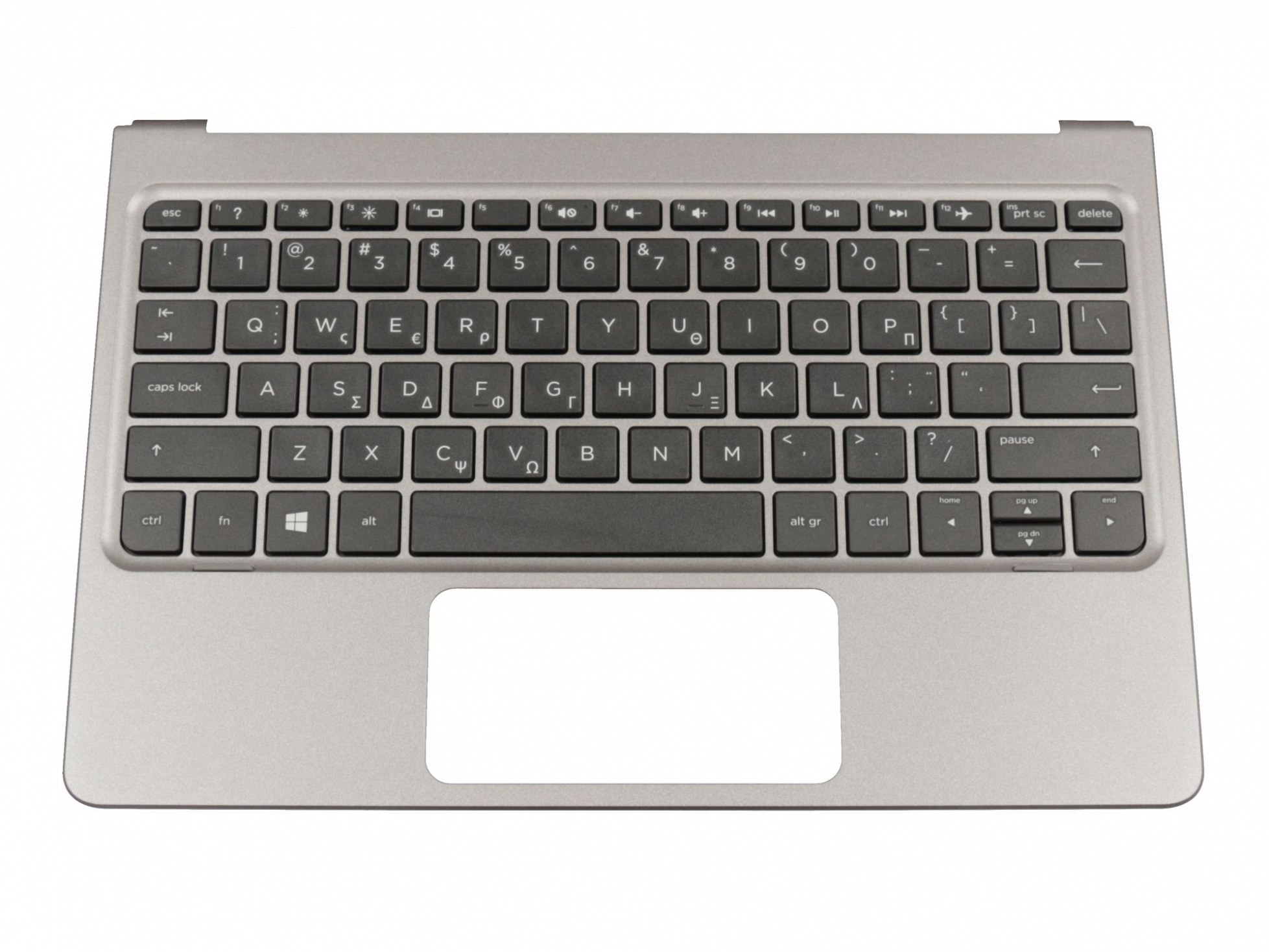 HP NSK-CS5SV Tastatur inkl. Topcase GR (griechisch) schwarz/grau Original