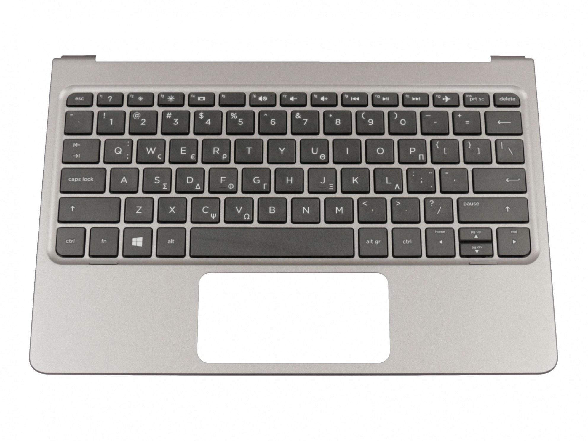 THP10N Tastatur inkl. Topcase GR (griechisch) schwarz/grau Original