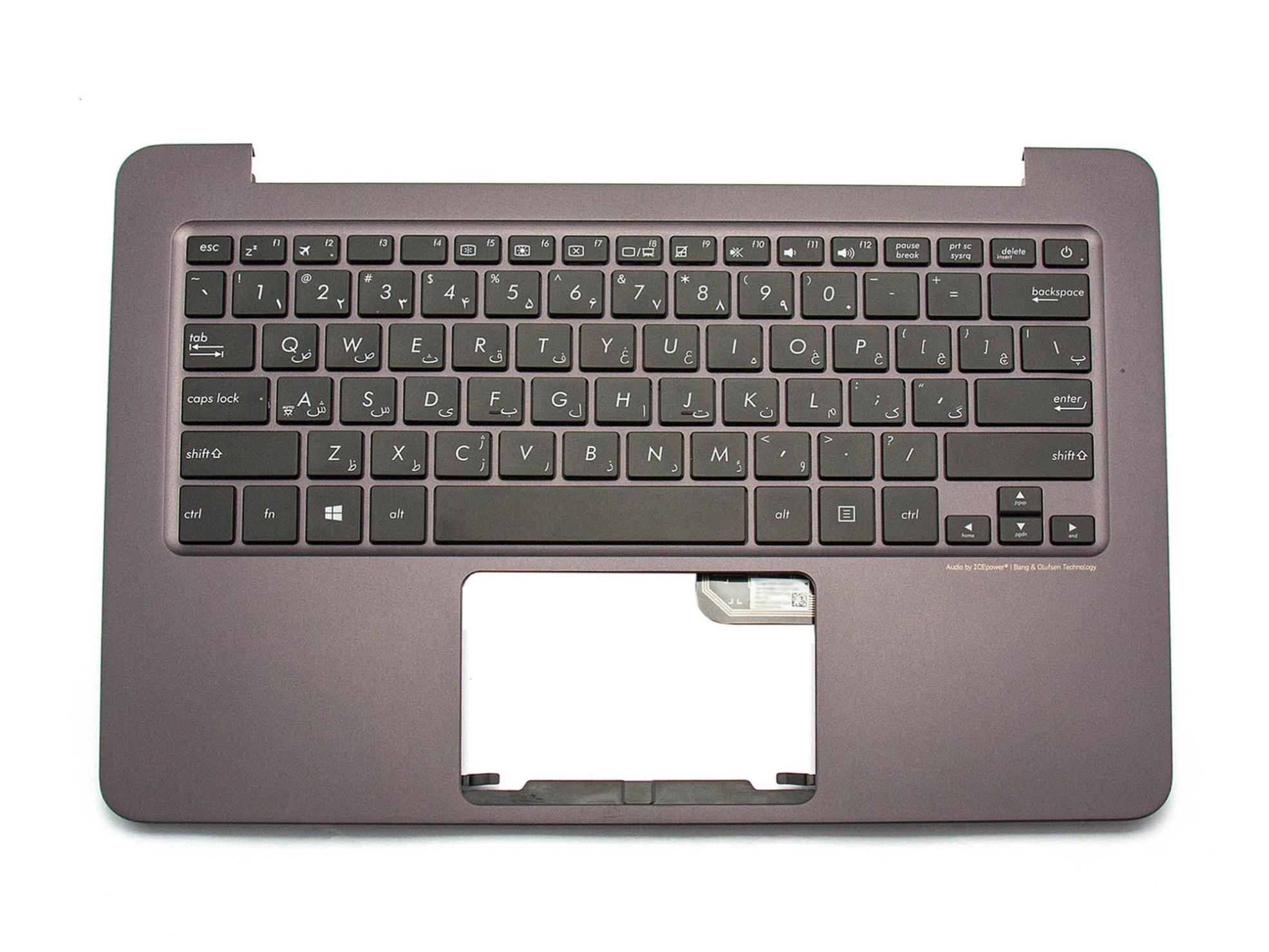 TFS305 Tastatur inkl. Topcase FS (persisch) schwarz/anthrazit Original