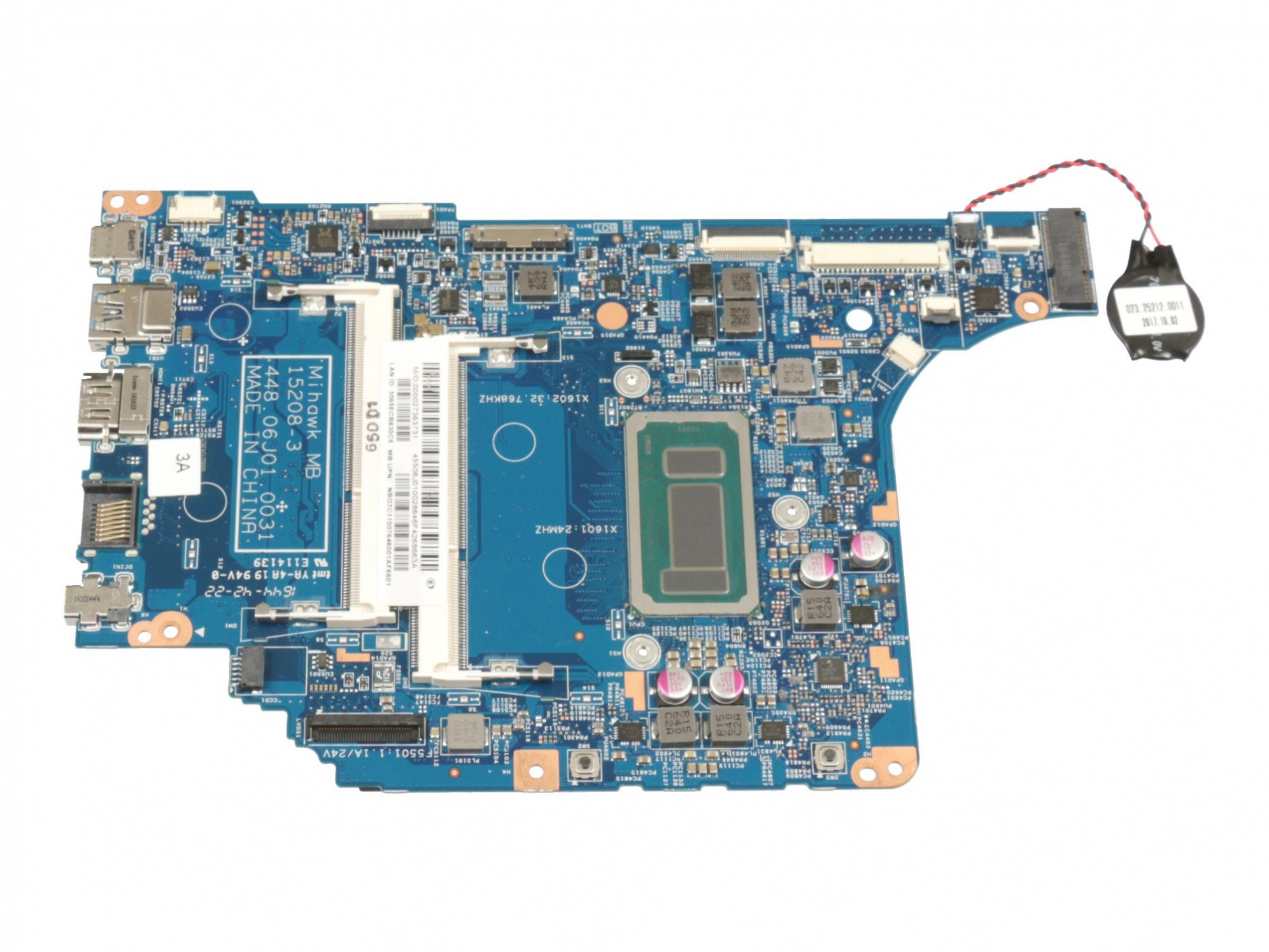 RM372T Mainboard NB.G7C11.007 (onboard CPU/GPU) I5-6267U inkl. CMOS-Batterie Original