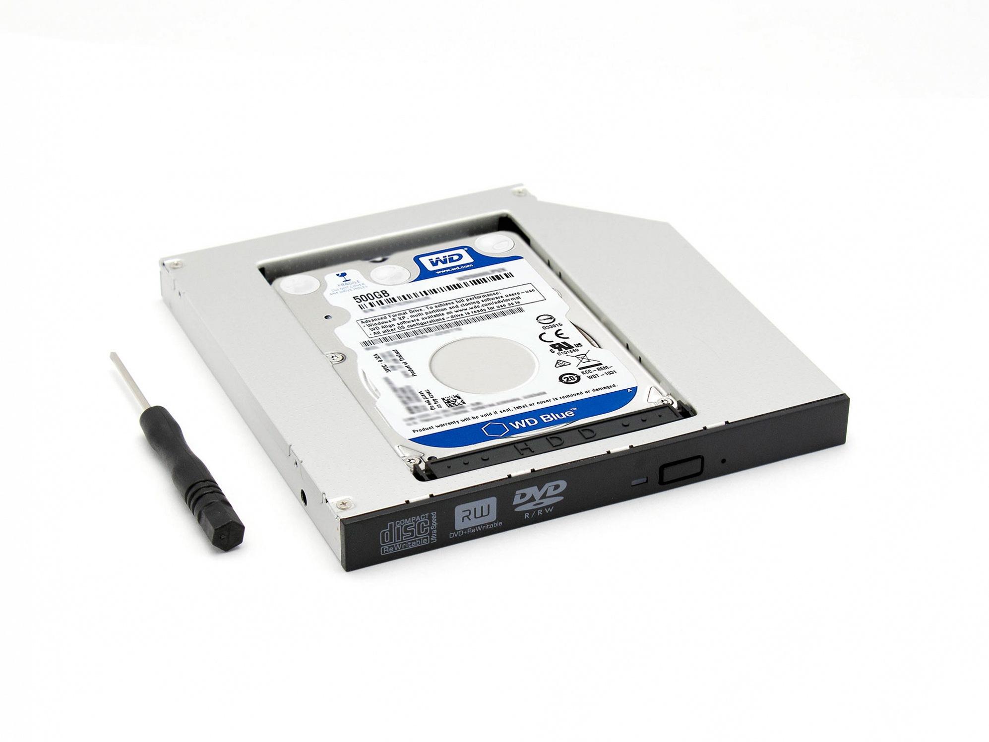 Einbaurahmen SATA Kit inkl. 500GB HDD für ODD-Slot für Wortmann Terra Mobile 1509