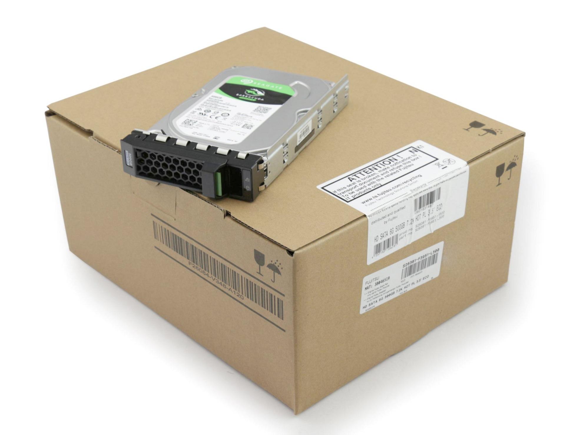 Server Festplatte HDD 500GB (3,5 Zoll / 8,9 cm) S-ATA III (6,0 Gb/s) ECO 7.2K inkl. Hot-Plug für Fujitsu Primergy TX1330 M2