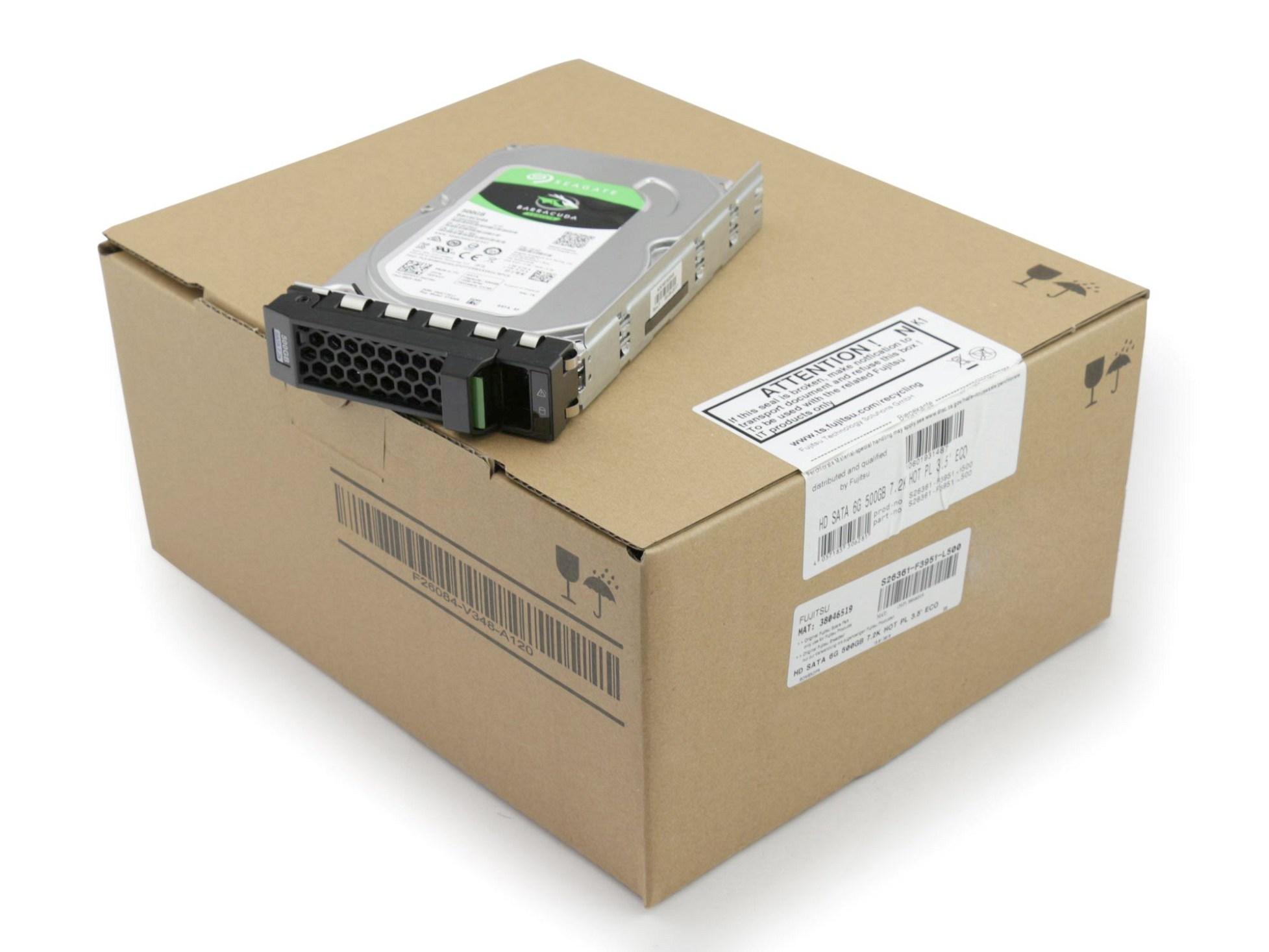Fujitsu S26361-F3951-L500 Server Festplatte HDD 500GB (3,5 Zoll / 8,9 cm) S-ATA III (6,0 Gb/s) ECO 7.2K inkl. Hot-Plug