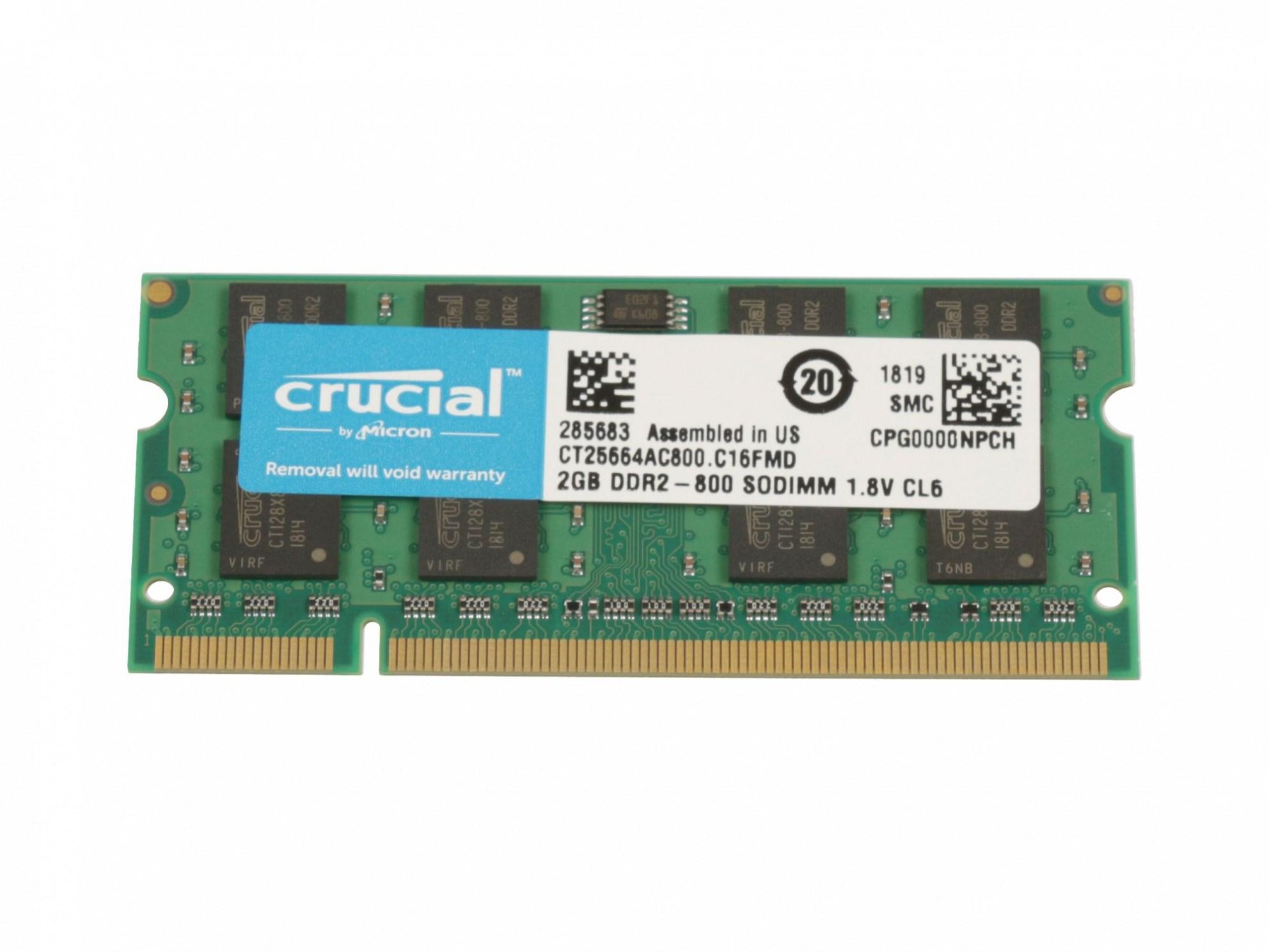 RAM-Speicher 2 GB DDR2 SO-DIMM 800 Mhz für Fujitsu Amilo Li-3910 Reg.No. EF9