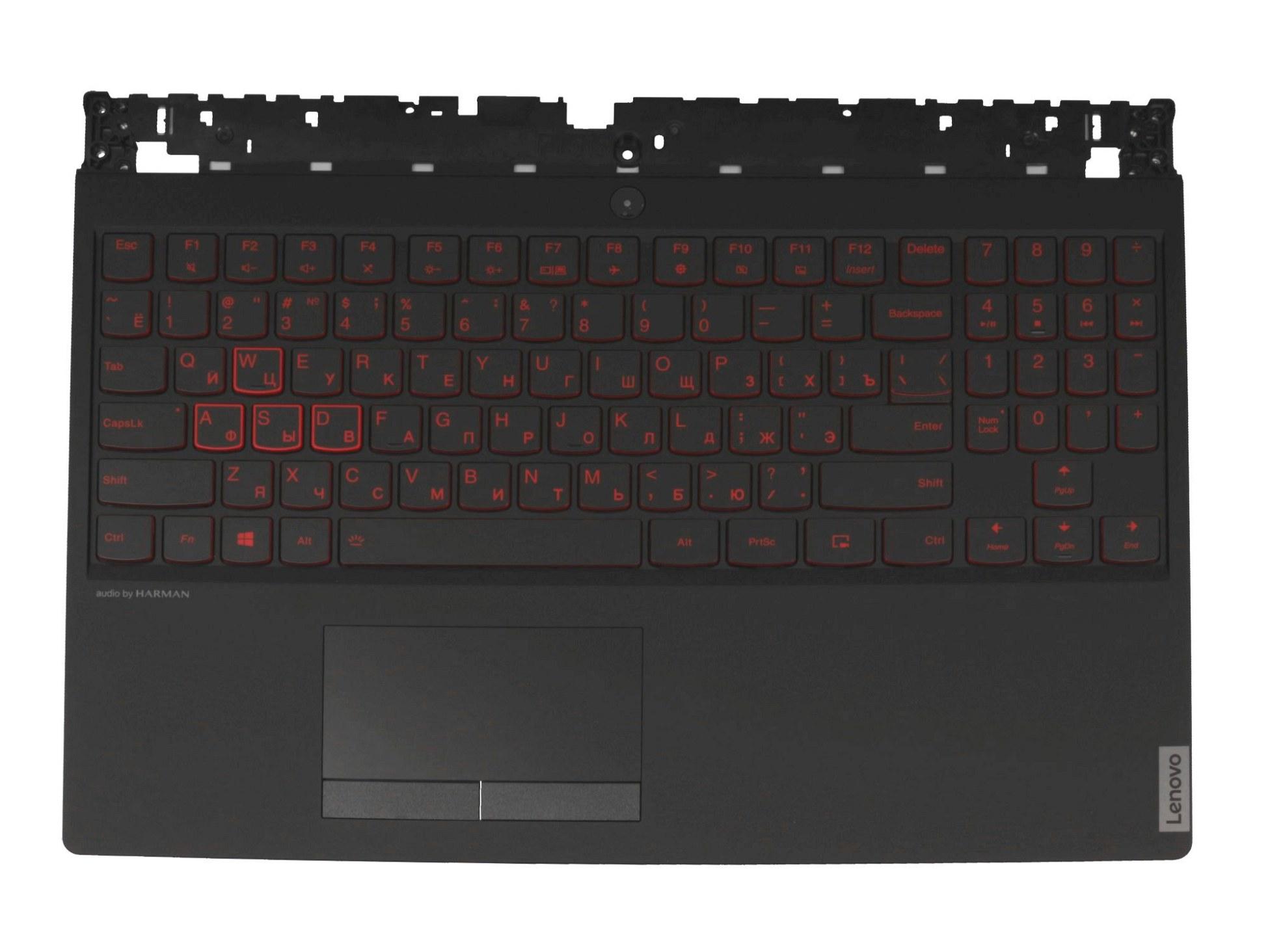 TRY719 Tastatur inkl. Topcase RU (russisch) schwarz/schwarz mit Backlight Original