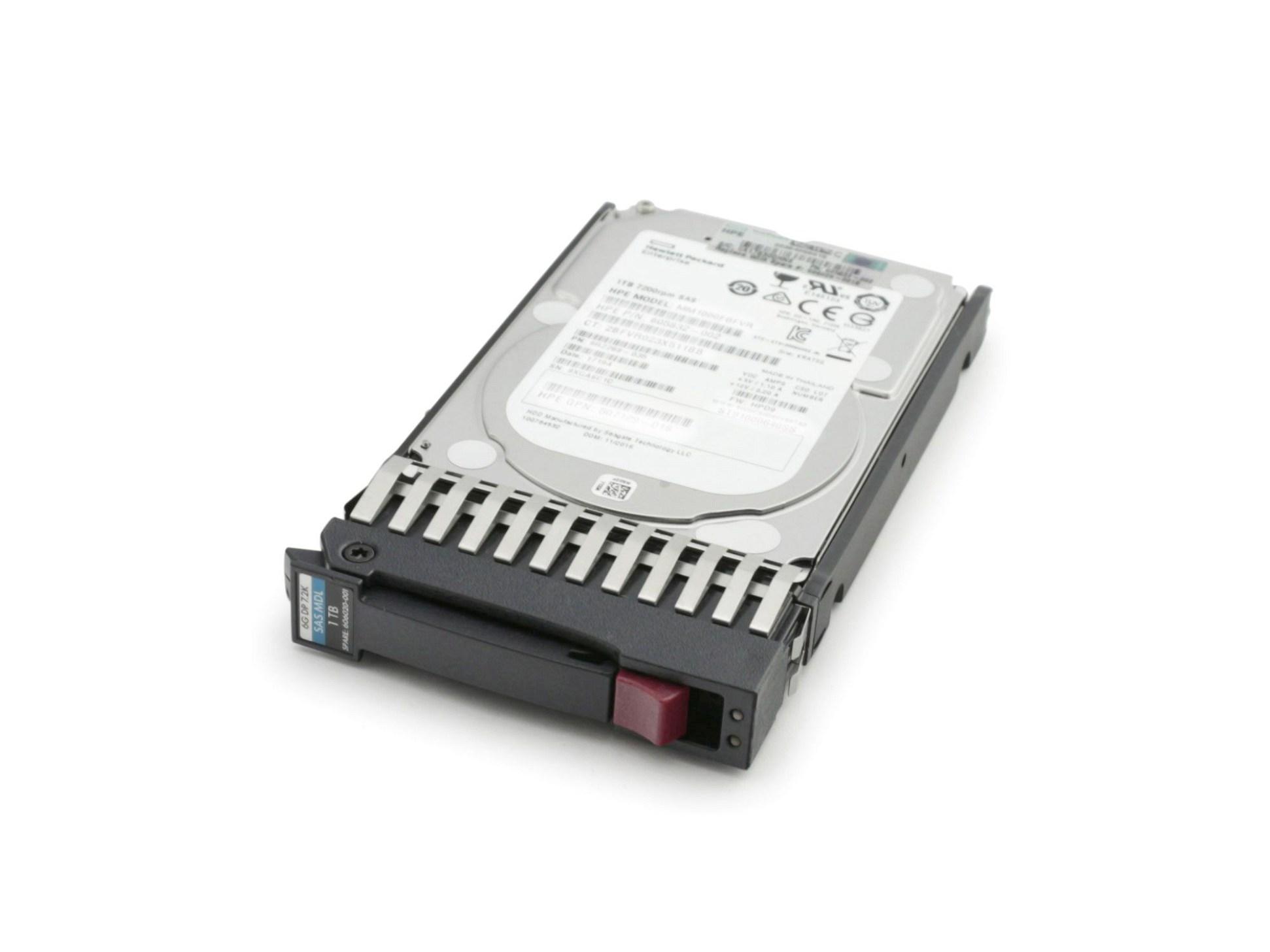 Server Festplatte HDD 1TB (2,5 Zoll / 6,4 cm) SAS II (6 Gb/s) DP SPS 7.2K inkl. Hot-Plug für Hewlett Packard ProLiant BL465c G7