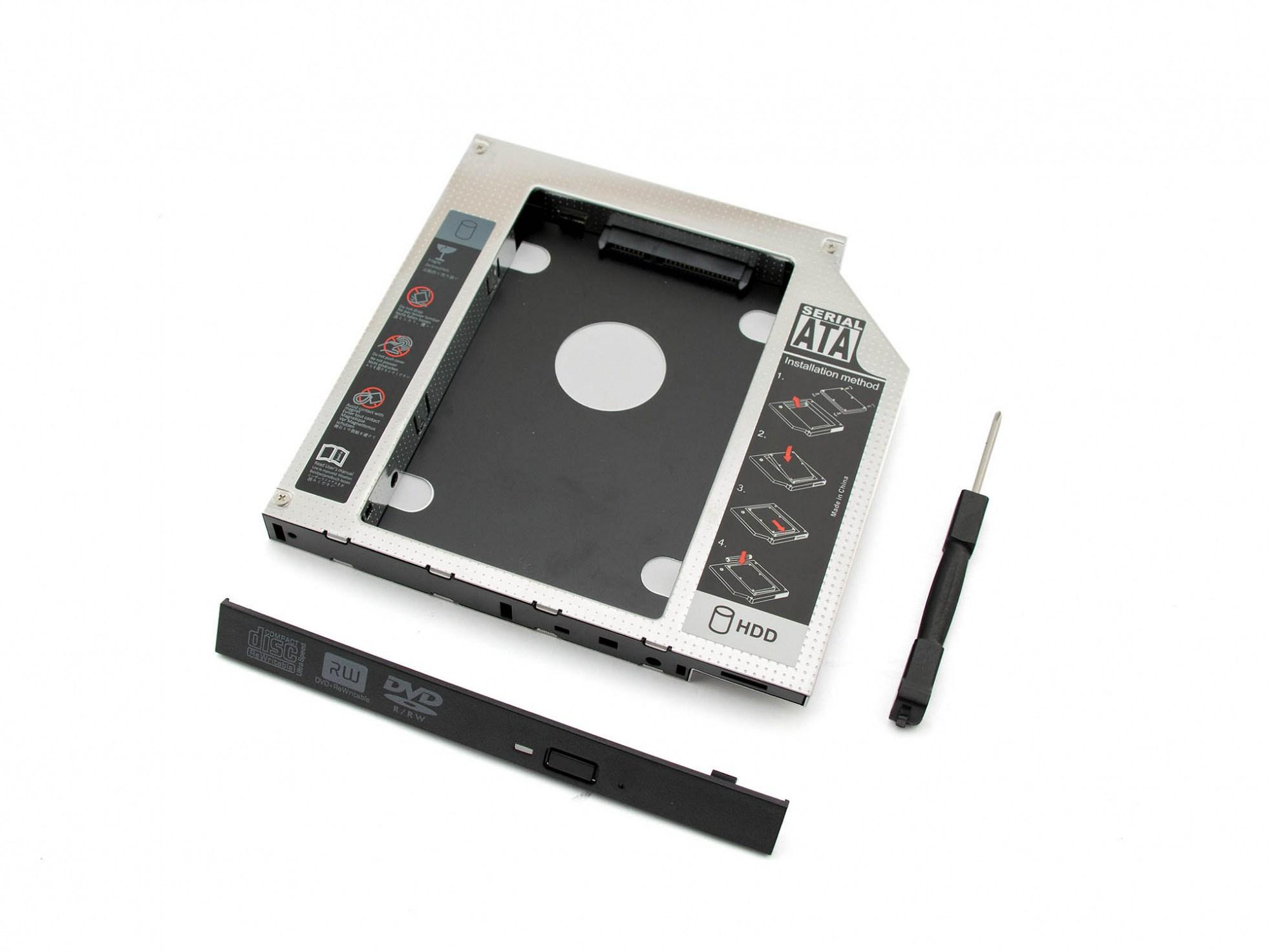 Einbaurahmen SATA 2.Festplatte für ODD-Schacht für Fujitsu Amilo Li-3910 Reg.No. EF9