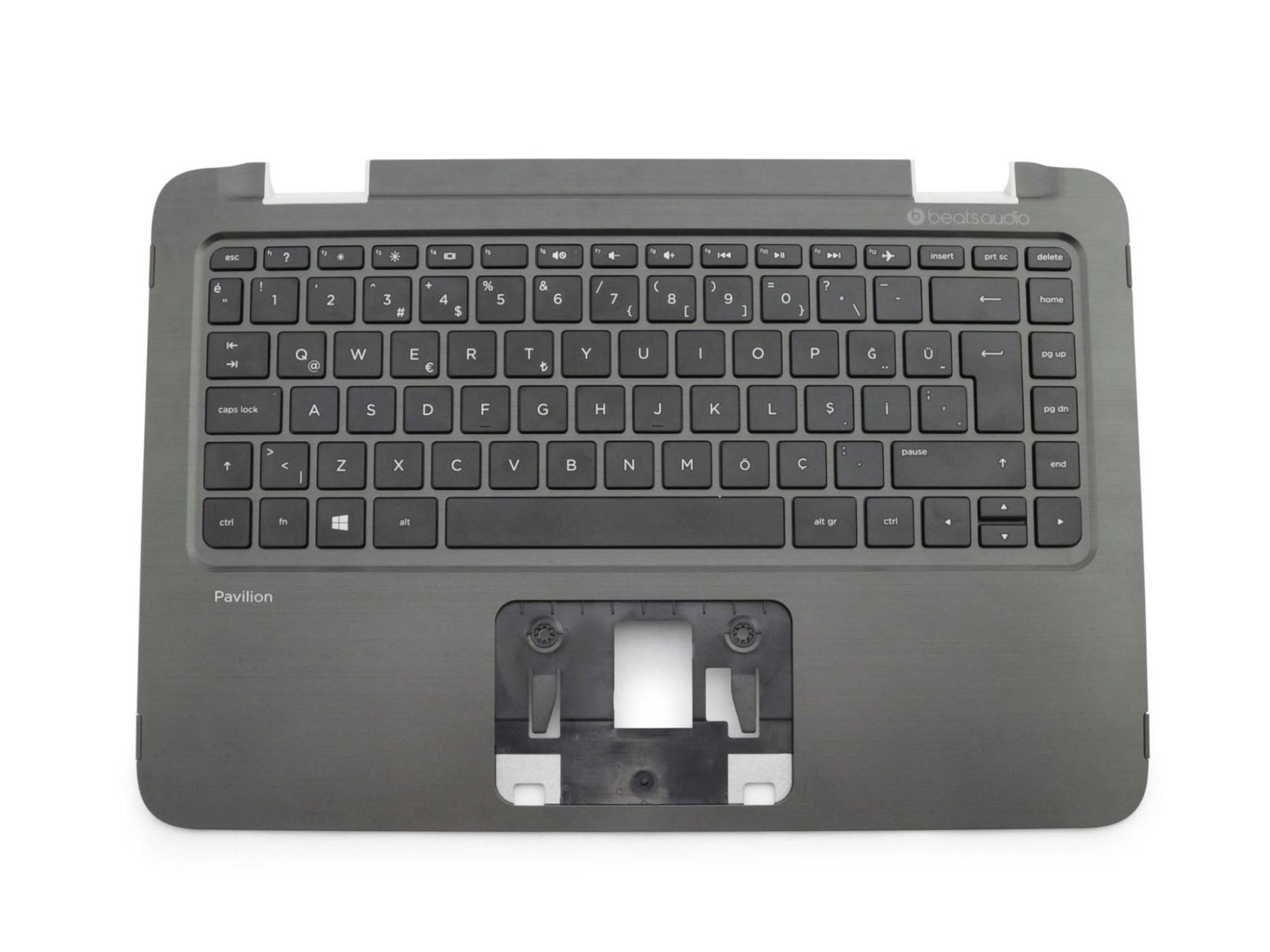 HP NSK-CM7SQ Tastatur inkl. Topcase TR (türkisch) schwarz/schwarz Original